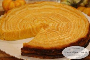 Мраморный творожно-тыквенный десерт
