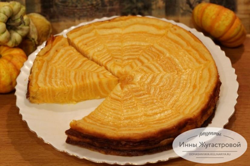Зебра из тыквы и творога. Мраморный десерт (чизкейк), нежный и красивый