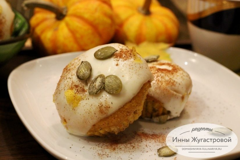 Тыквенные кексы со сметанной помадкой по простому рецепту Джейми Оливера