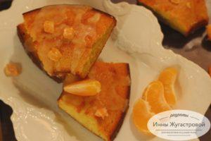 Мандариновый кекс с помадкой