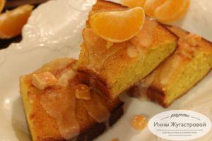 Кекс мандариновый с помадой и цедрой