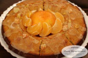Яркий и ароматный мандариновый кекс