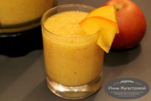 Смузи из хурмы, яблок и апельсина