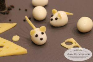 Мышки из перепелиных яиц
