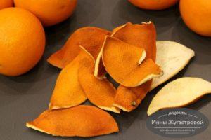 Кожура апельсина и лимона