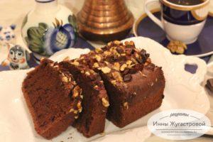 Шоколадный постный веганский кекс