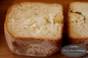Бутербродный хлеб в хлебопечке Мулинекс