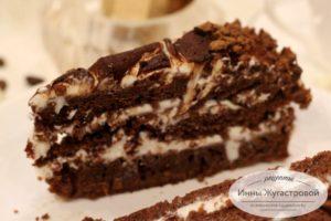 Красивый нежный торт Черный принц