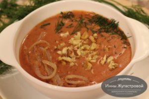 Фасолевый протертый суп с овощами