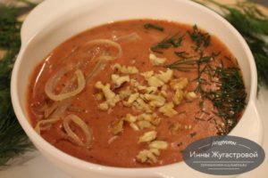 Суп-пюре фасолевый с овощами