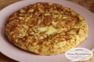 Испанская тортилья, tortilla de patatas