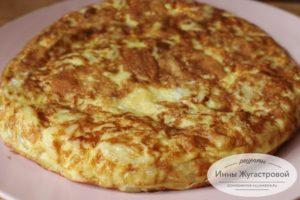Тортилья. Испанский омлет с картофелем