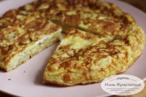 Тортилья де пататос, базовый рецепт
