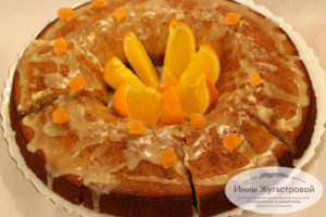 Апельсиновый кекс с апельсиновой помадкой