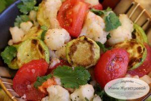 Веганский салат из цветной капусты