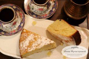 Лимонный бисквитный кекс