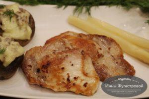 Жаренная ломтиками (стейками) свинина