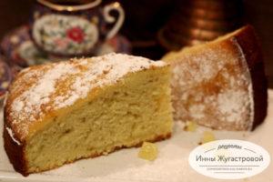 Бисквитный лимонный кекс