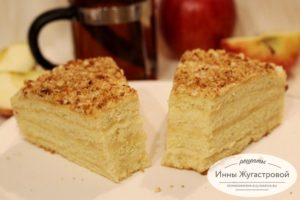 Бисквитный торт Апфельмусс