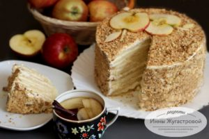 Нежный торт Апфельмусс