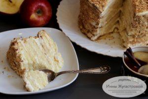 Бисквитный яблочный торт Апфельмусс