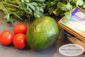 Продукты для бутербродов с авокадо