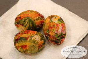 Декупаж пасхальных яиц белком