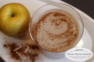 Яблочный смузи на овсяном молоке