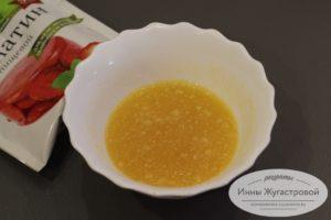Залить желатин соком