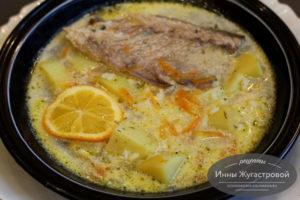 Рисовый суп из скумбрии