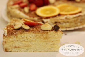Бисквитный торт Вечерний со сметаной и сгущенкой