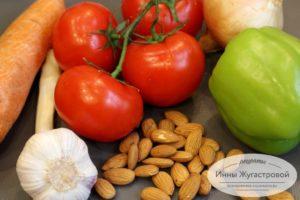 Овощи и миндаль