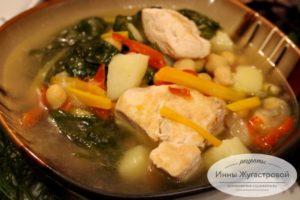 Вкусный суп с нутом