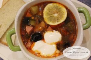 Суп солянка на воде