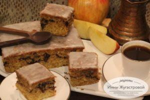 Яблочный кекс с корично-кофейной начинкой