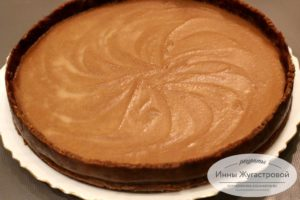 Шоколадный творожный чизкейк
