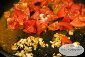 Потушить помидоры