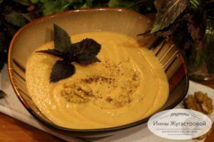 Баклажанный суп чиз