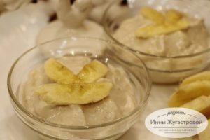 Творожно-банановый десерт