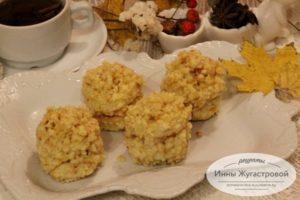 Бисквитные пирожные Ежики с кремом