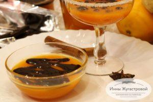 Тыквенное желе с апельсином и шоколадом