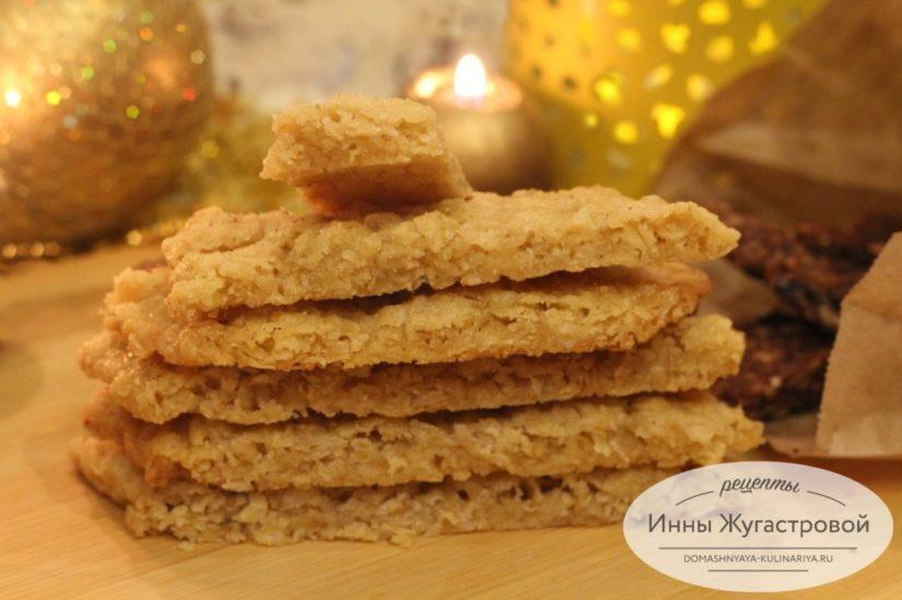 Шведское овсяное печенье Хаврекакур, хрустящее печенье из геркулеса