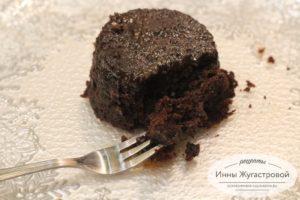 Шоколадное суфле в СВЧ