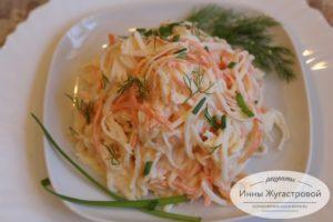 Вкусный простой салат из дайкона