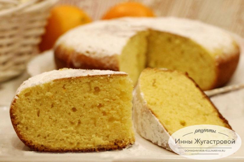 Апельсиновый кекс в мультиварке Редмонд