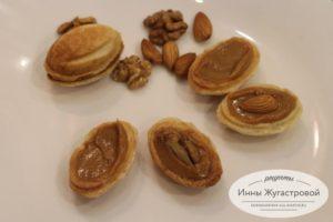 Начинить орешки кремом