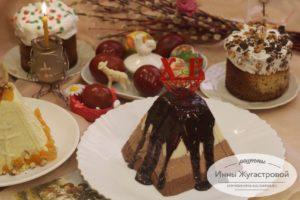 Шоколадная творожная пасха Три шоколада