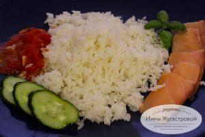 Круглый рис в мультиварке Редмонд
