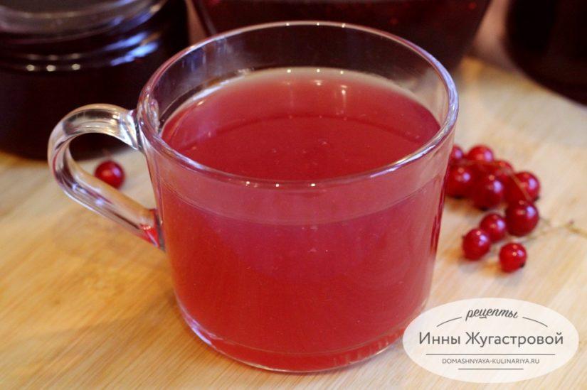 Кисель из красной смородины (из жмыха от варенья)