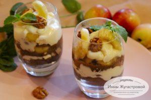 Десерт с нектаринами без выпечки